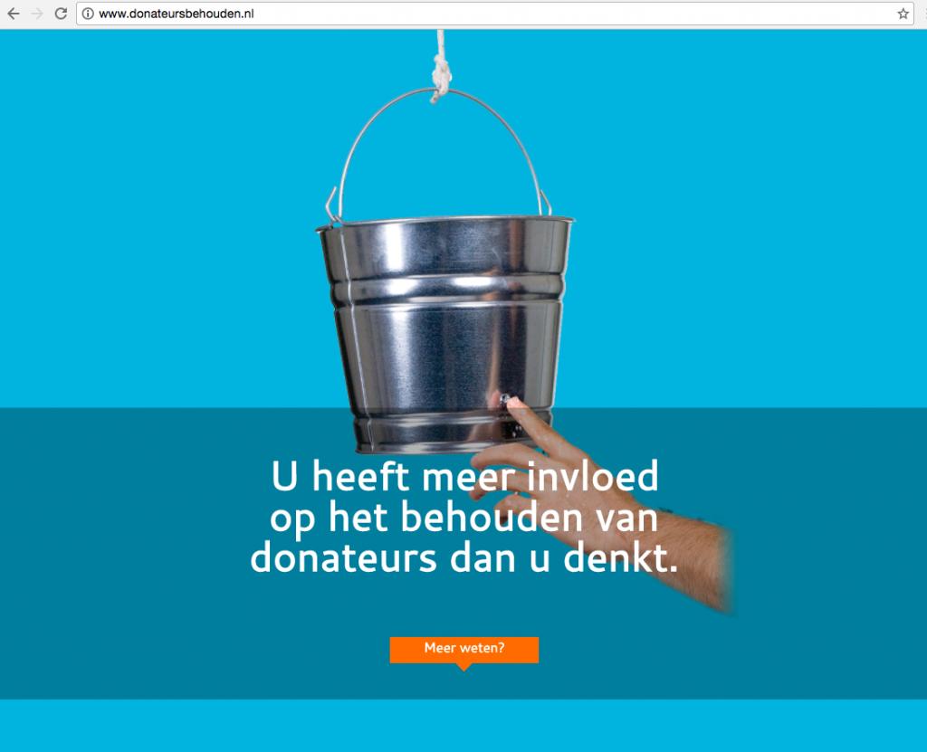 Donateurs behouden wordt Data Inside